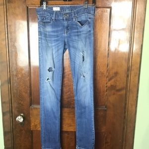 GAP 1969 Destructed Straight Jeans 25/0 R